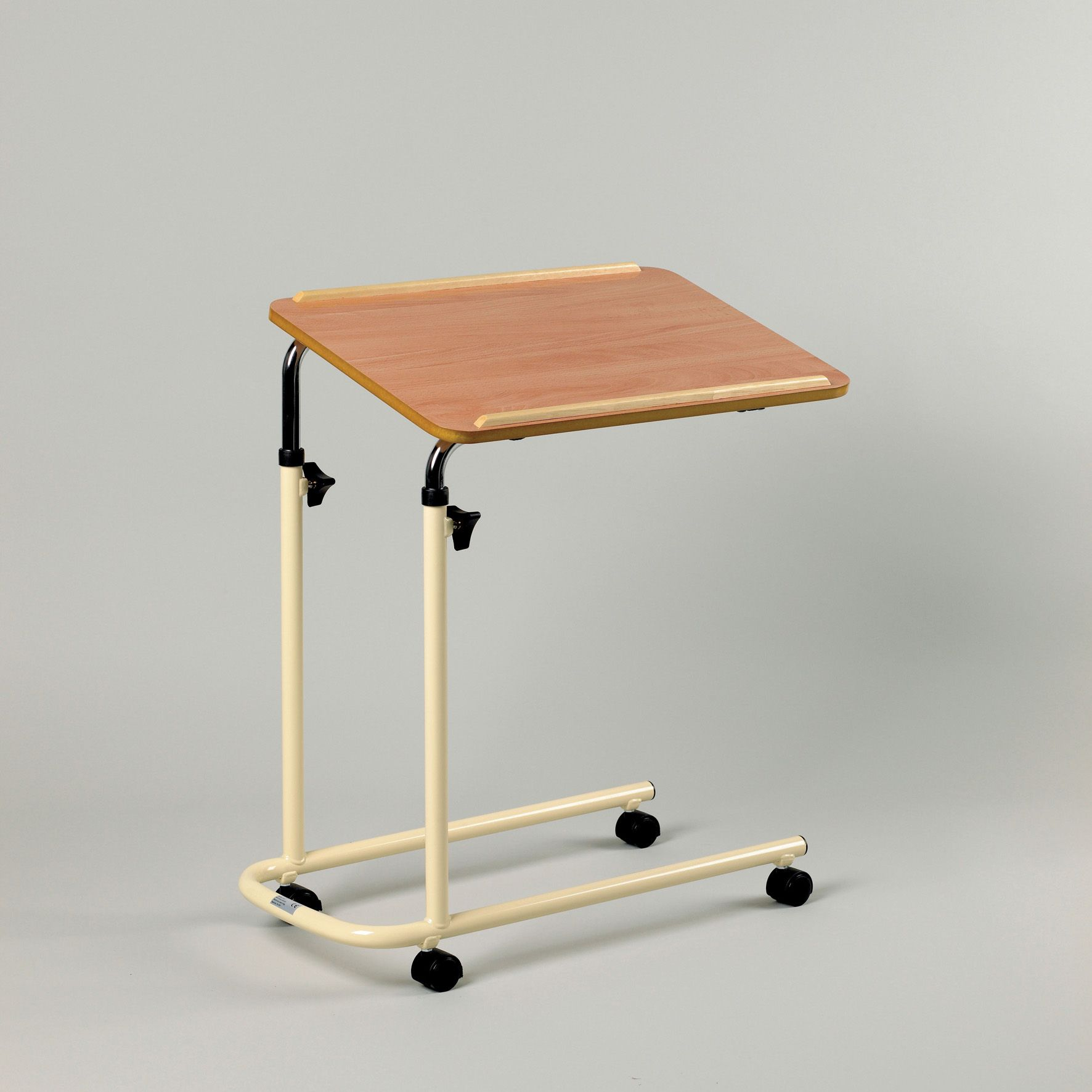 table on wheels. overchair table cantilever with wheels on u