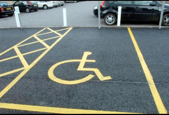 Disabled people prevented from parking in bays