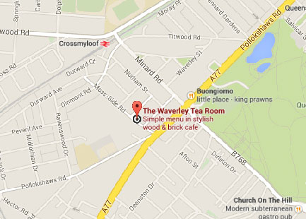 Waverley Tea Rooms Menu