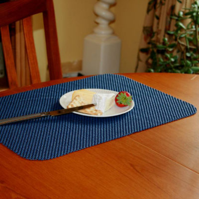 PR61703 1 StayPut Non Slip Fabric Tablemat and Coaster Set