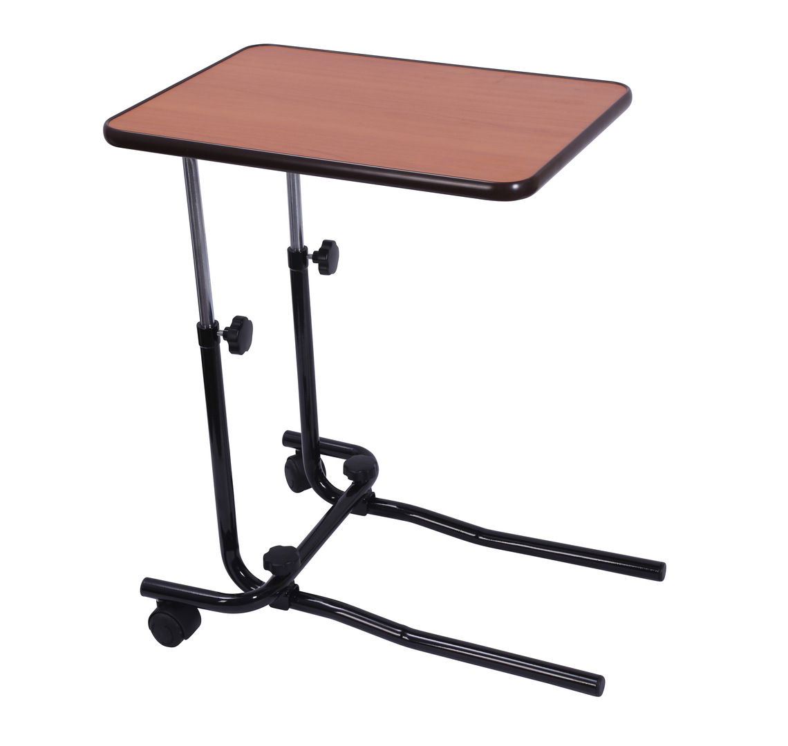 Over bed chair table with castors mobility solutions for Divan overbed table