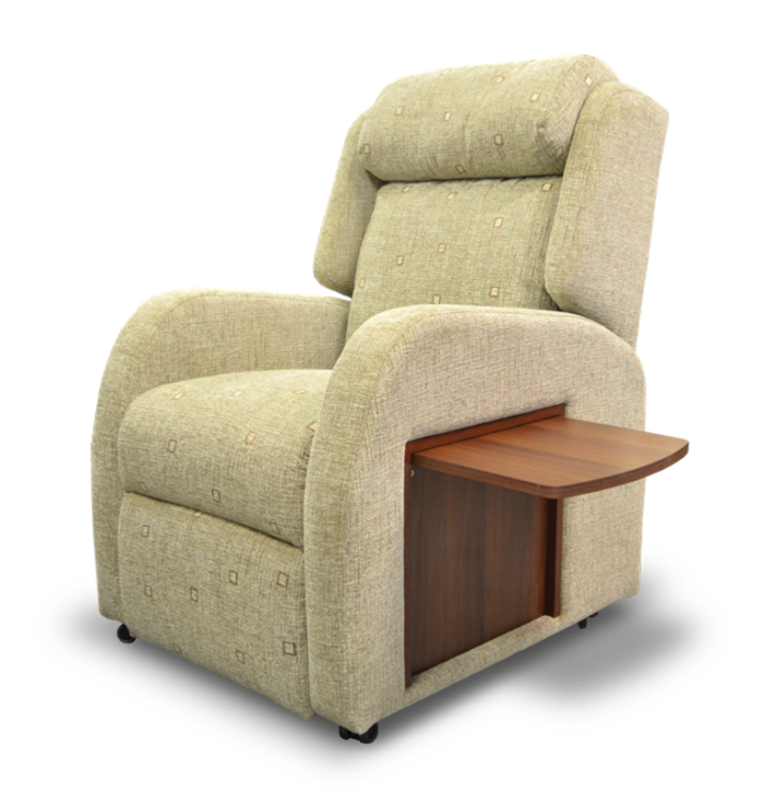 hampton recliner with table