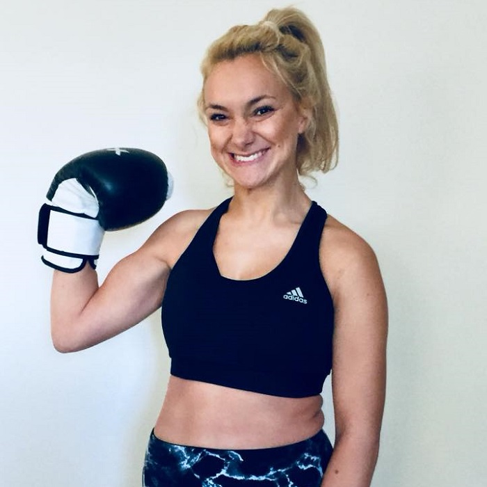 girl boxer with CP