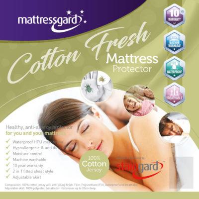 Mattressgard Cotton Fresh Mattress Protetctor